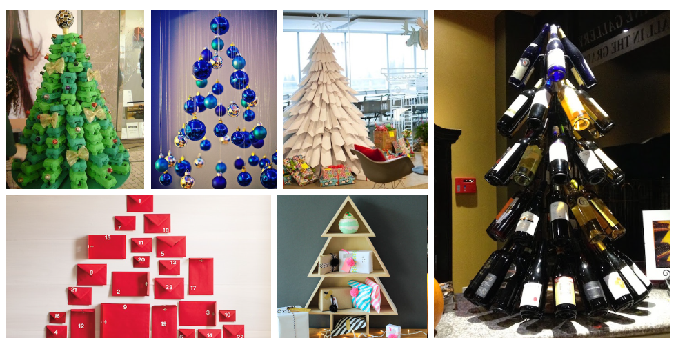 21 alternative christmas tree ideas that prove traditional isnt always best