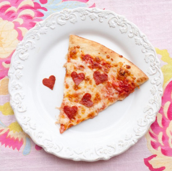 Nothing says love like pizza.