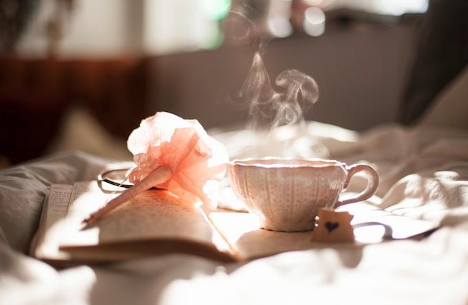 Tea is served.