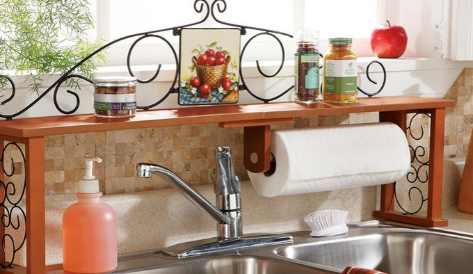 Get A Sink Shelf. Hurrah For More Space!