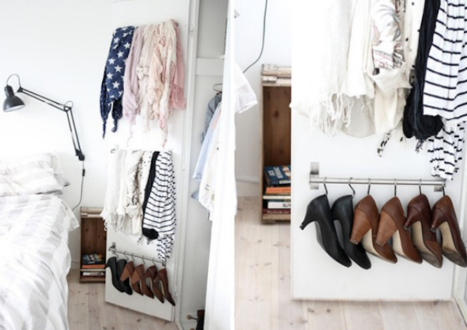 wardrobe door rail storage