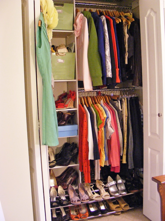 tiny closet double rail