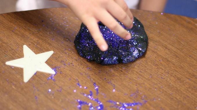 Glitter fun.