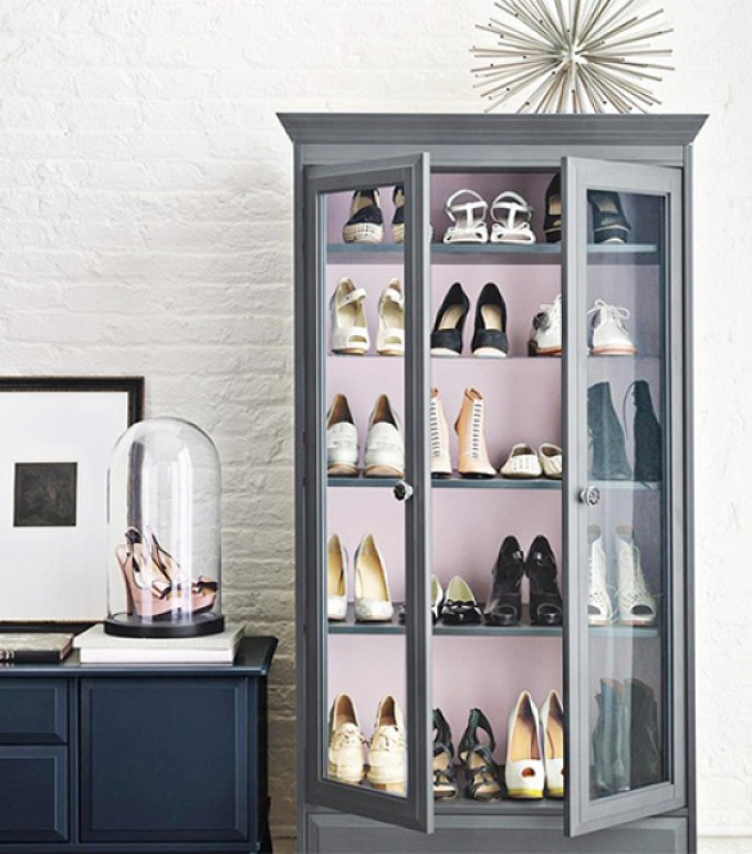 show them off in a glass cabinet