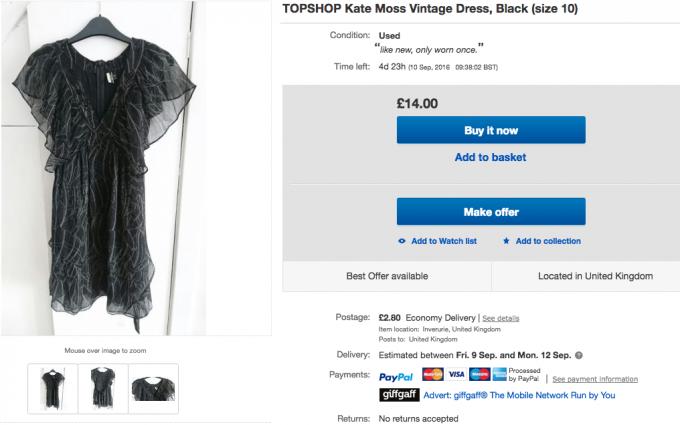 eBay topshop posting