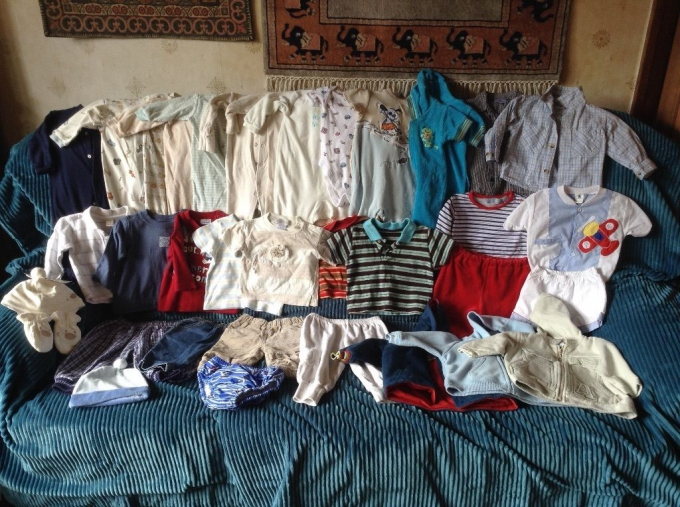 eBay baby clothes job lot