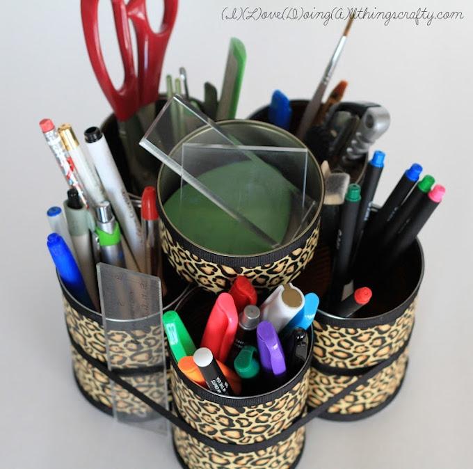 Can pen holder