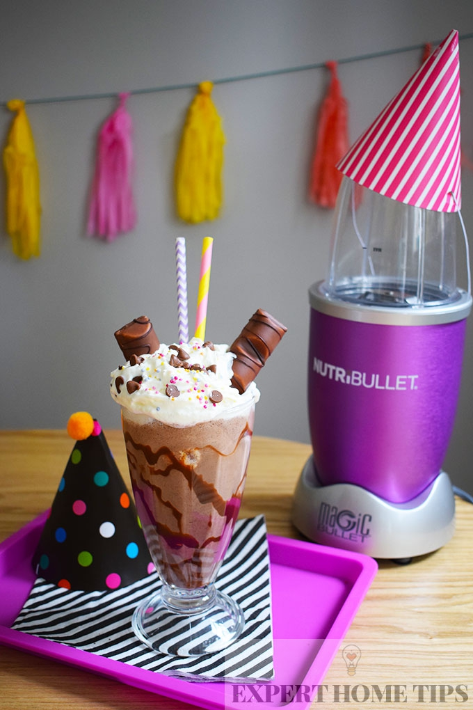 Buenos & Brownies party milkshake made in a NutriBullet