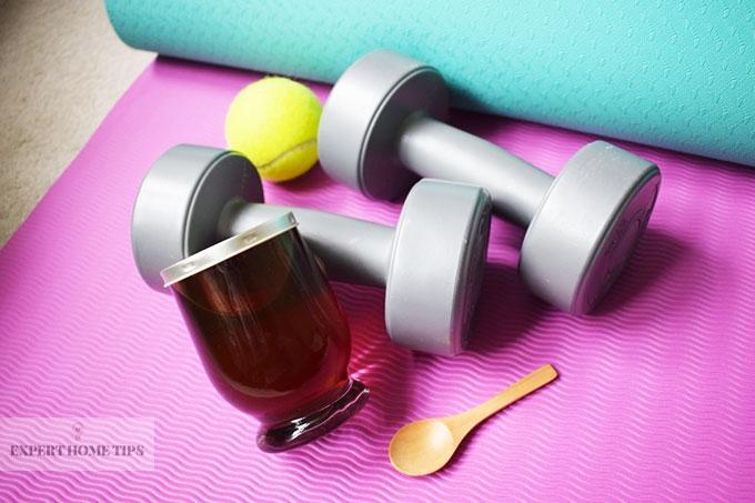 Eat honey before exercise