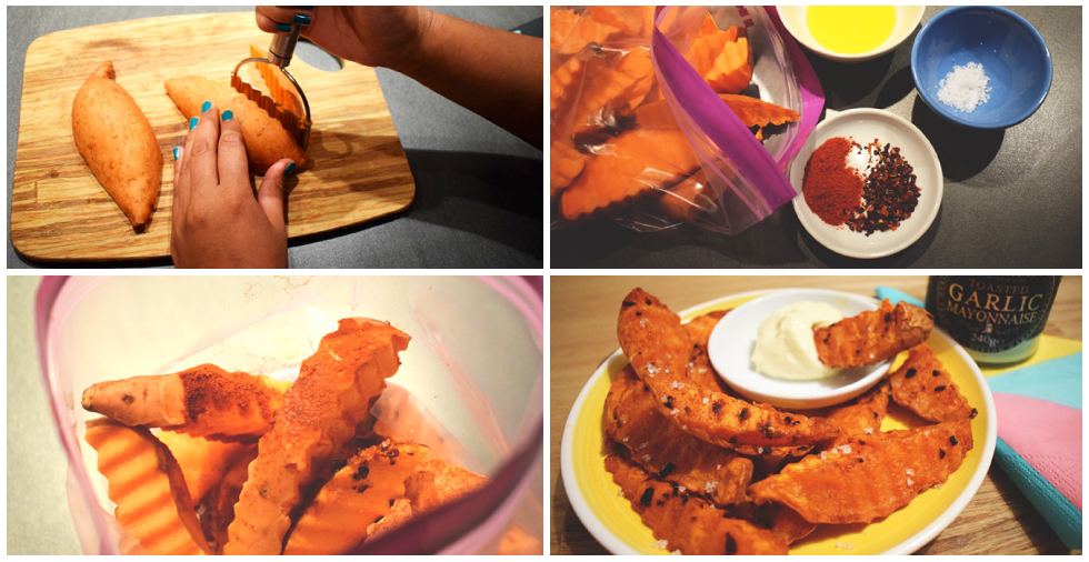 How to make crinkle-cut wedges out of sweet potato