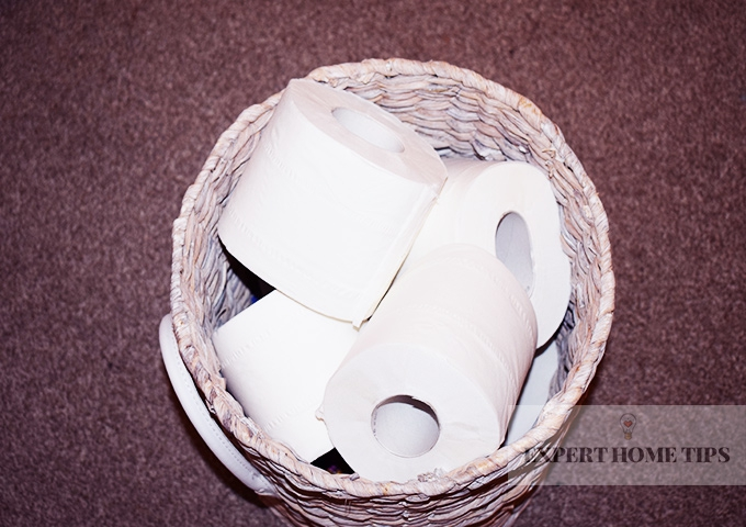 toilet roll storage to declutter