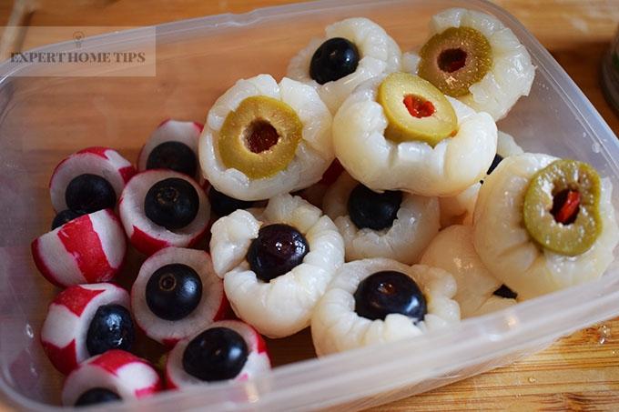 Freeze Lychee & Radish eyeballs