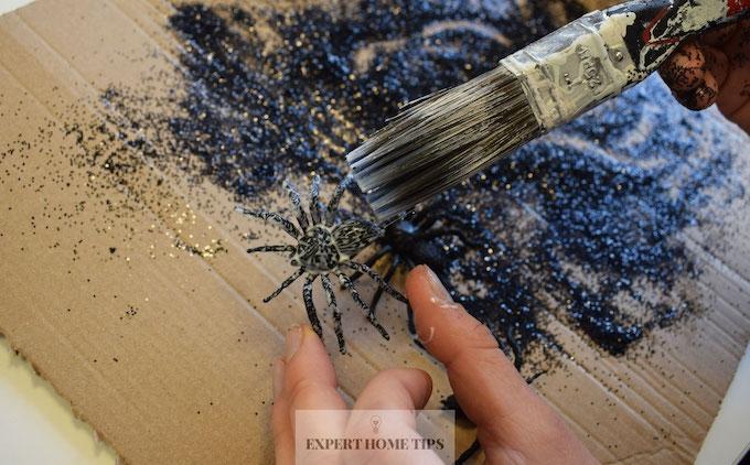 Plastic spiders