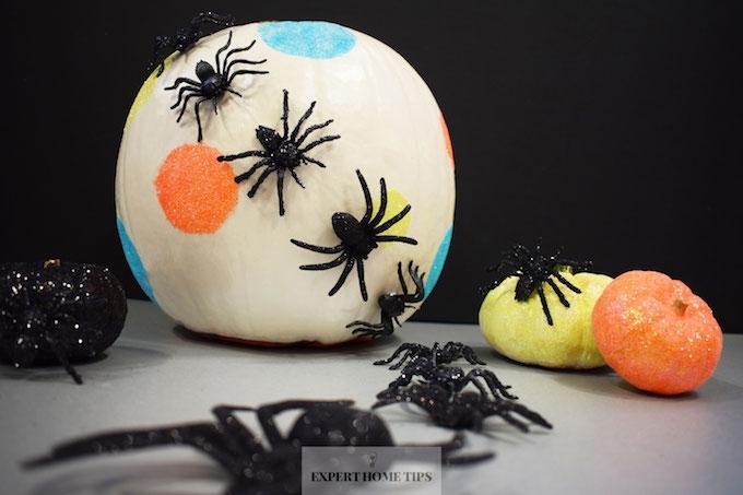 Decorated glitter pumpkin