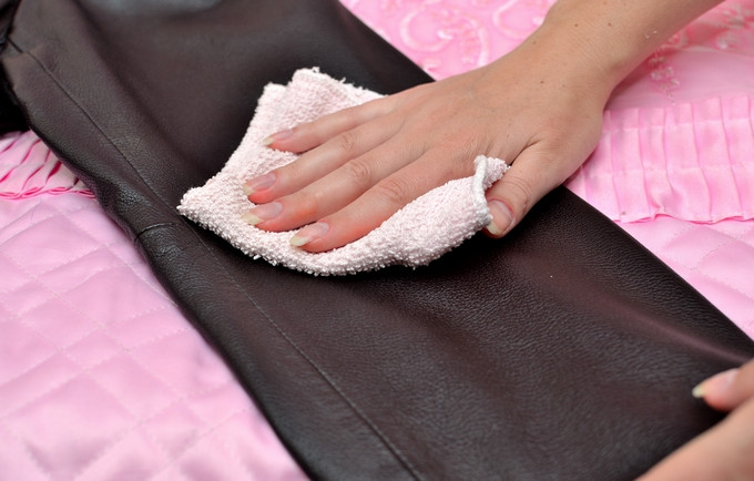 Use a dry cloth to remove  surface dust and dirt from your leather.