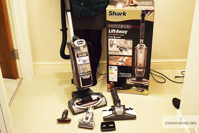 All the contents of the Shark Rotator Lift Away Vacuum cleaner
