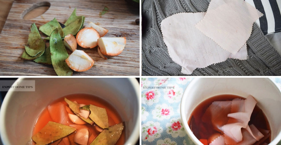 How to dye fabric pink using avocado