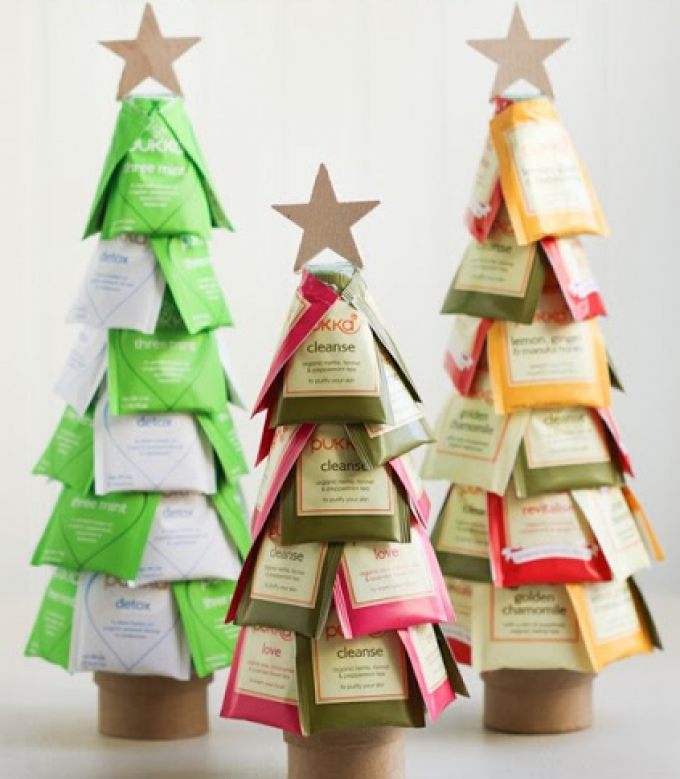 diy christmas gifts creative christmas tea trees