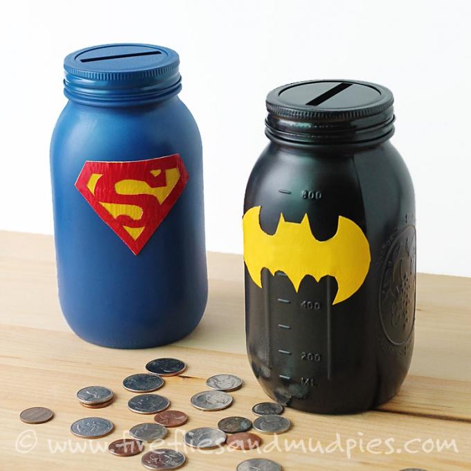 DIY Christmas Gifts Superhero Money Jar