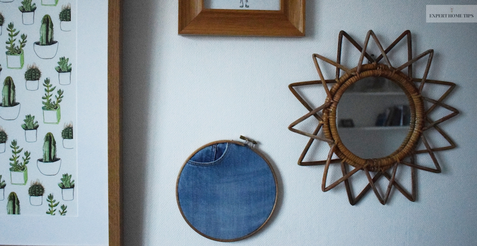 You can mix and match your denim wall hangings with a selection of your favourite frames.