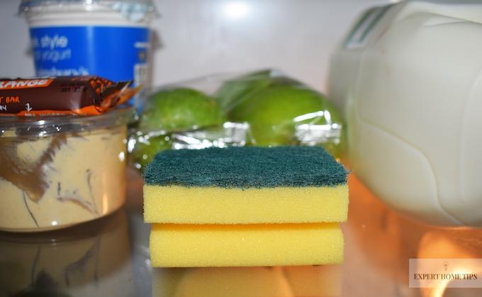 sponge to absorb odours
