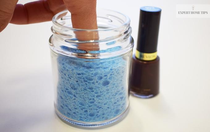 sponge nail varnish remover