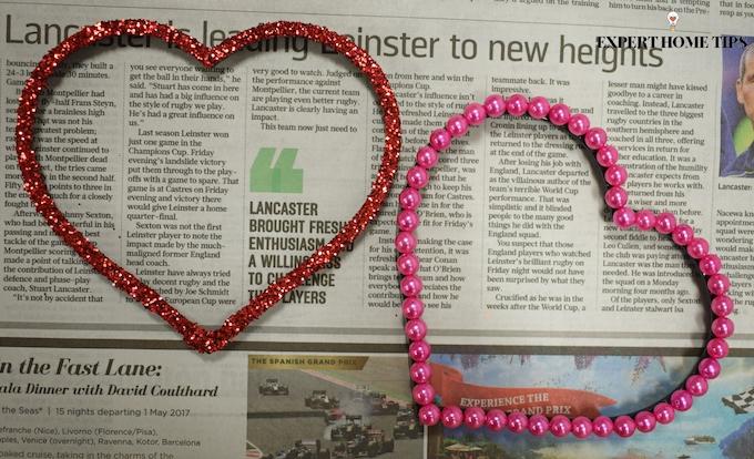 Valentine's DIY heart photo frames