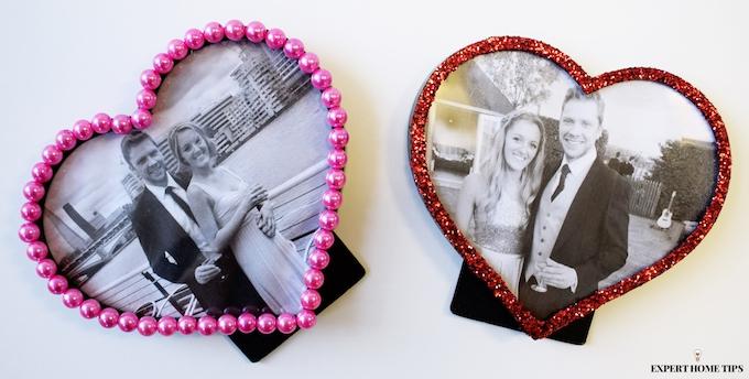 Valentine's photo frames DIY