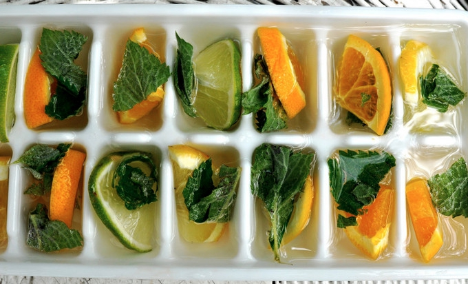 herb ice cubes