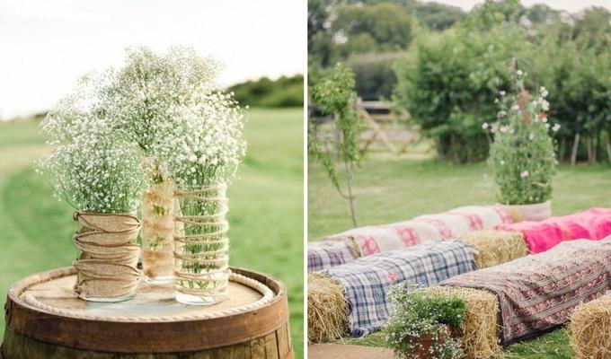 cheap countryside wedding decor
