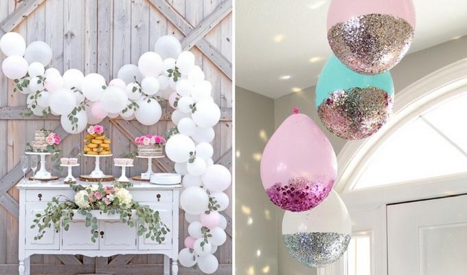 DIY wedding balloon ideas