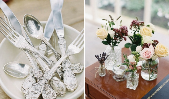 wedding decor borrowed from relatives to save money
