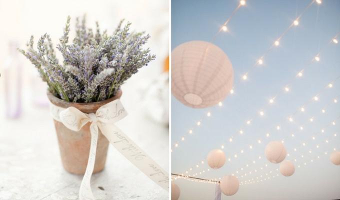 simple, low-cost wedding decor