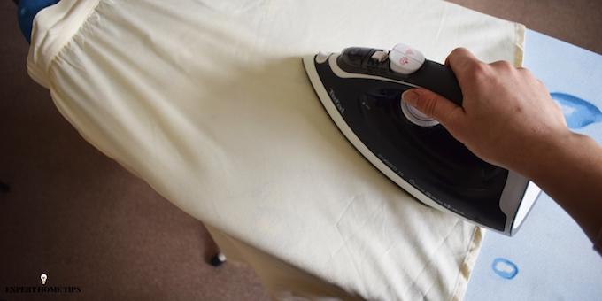 ironing a skirt