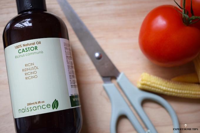 castor oil to lubricate scissors