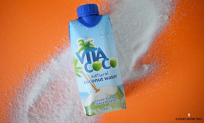 Coconut water & refined sugar