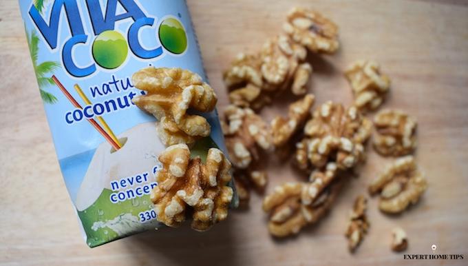 coconut water & walnuts