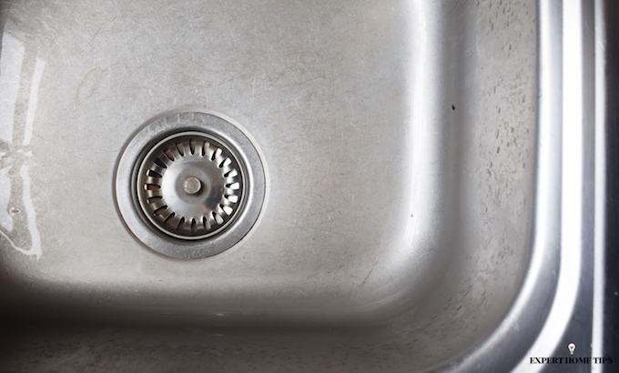 dirty stainless sink