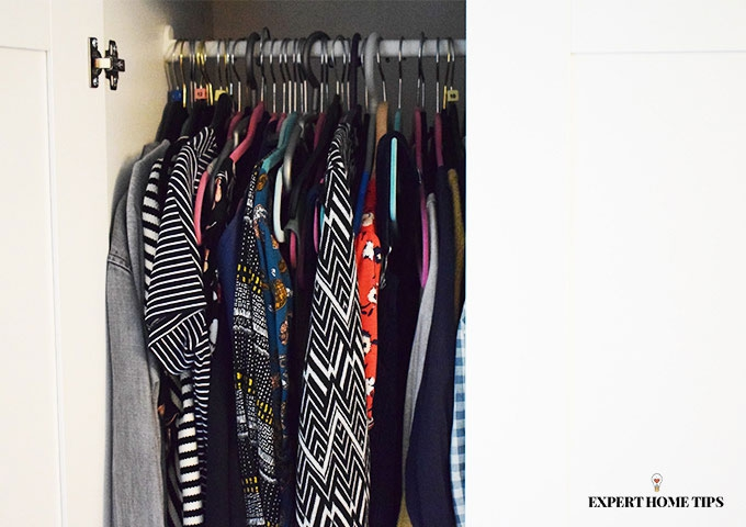 Declutter your wardrobe.