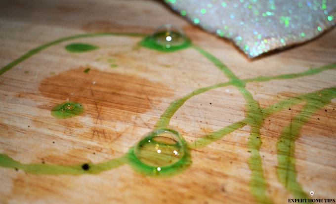 using washing up liquid on chopping boards = cleaning mistake