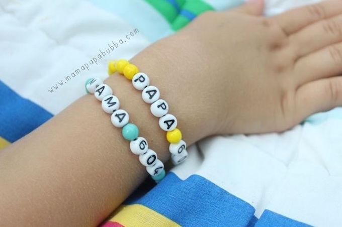 diy phone number bracelet for kids makes parenting easier