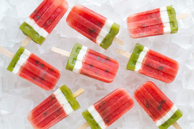 Watermelon ice pop recipe