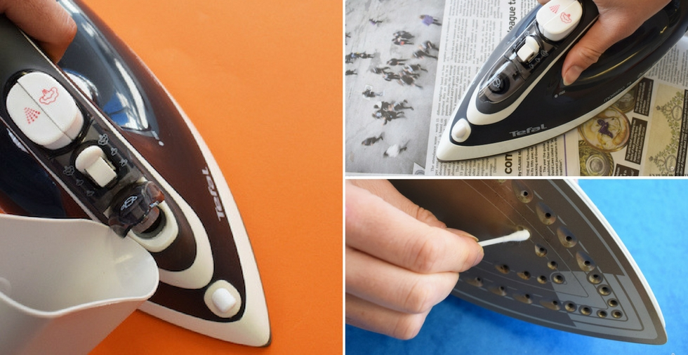 How to clean a dirty iron & get it sparkling again!