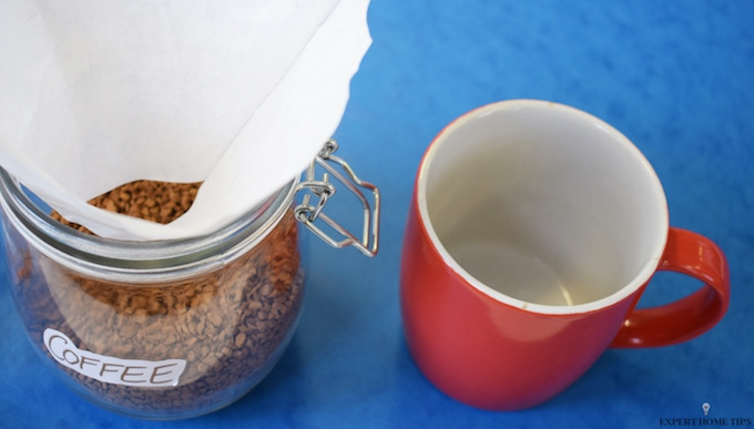 HOW TO MAKE A FILTER USING A COFFEE FILTER