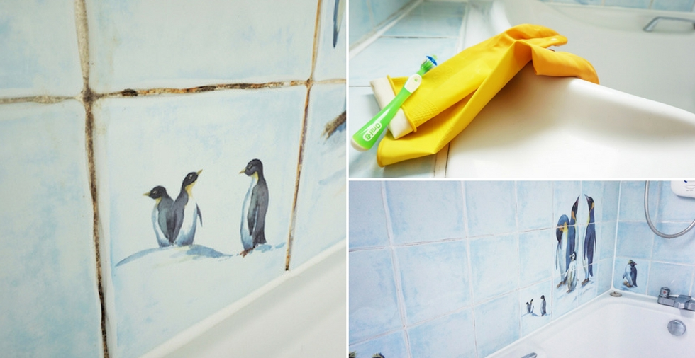 How To Clean The Grout In Your Shower The Results Are AMAZING - Best way to clean white grout in shower
