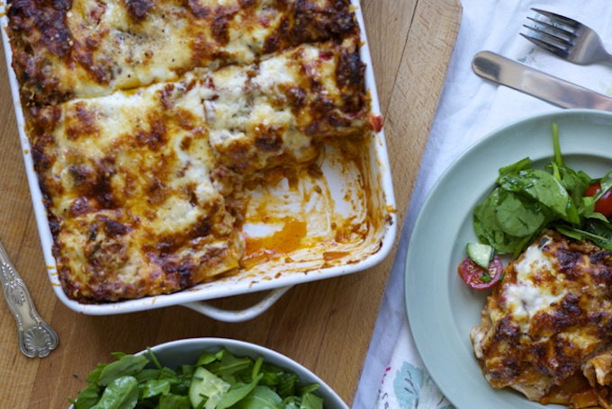 Veg packed lasagne recipe family friendly