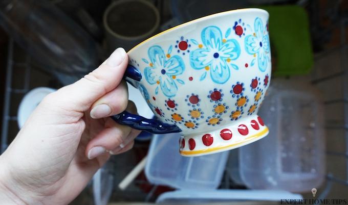 china mug in dishwasher
