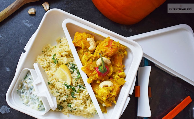 Curry packed lunch