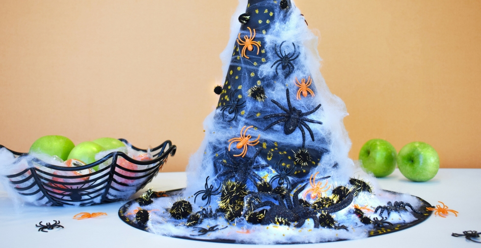 DIY Decorated Witch Hat - Perfect for Halloween!