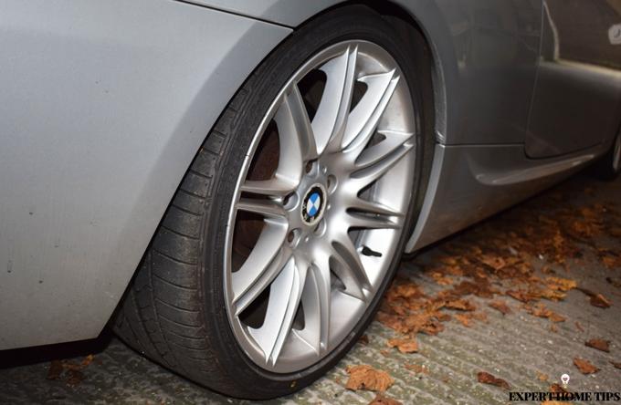 dirty car tires